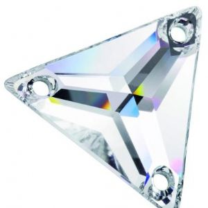 Preciosa 3 Hole Triangle Sew on Stone 16mm-  Clear Crystals- Pack of 6
